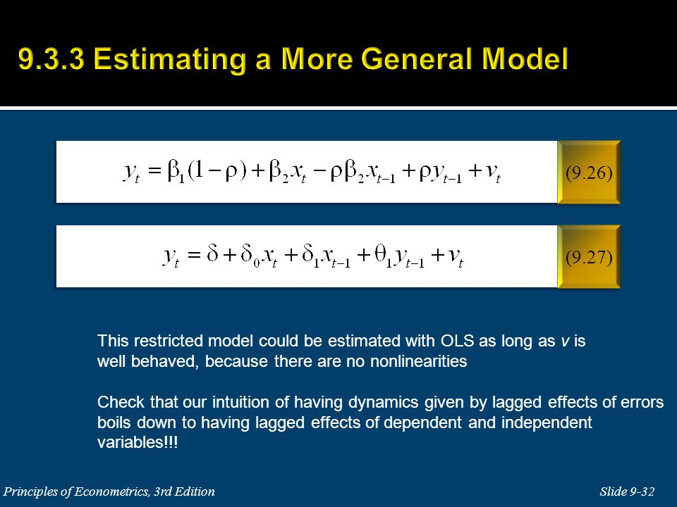 9.3.3 Estimating a More General Model
