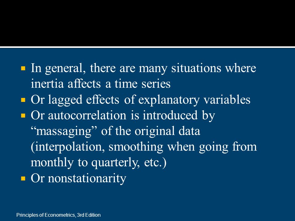 Or lagged effects of explanatory variables