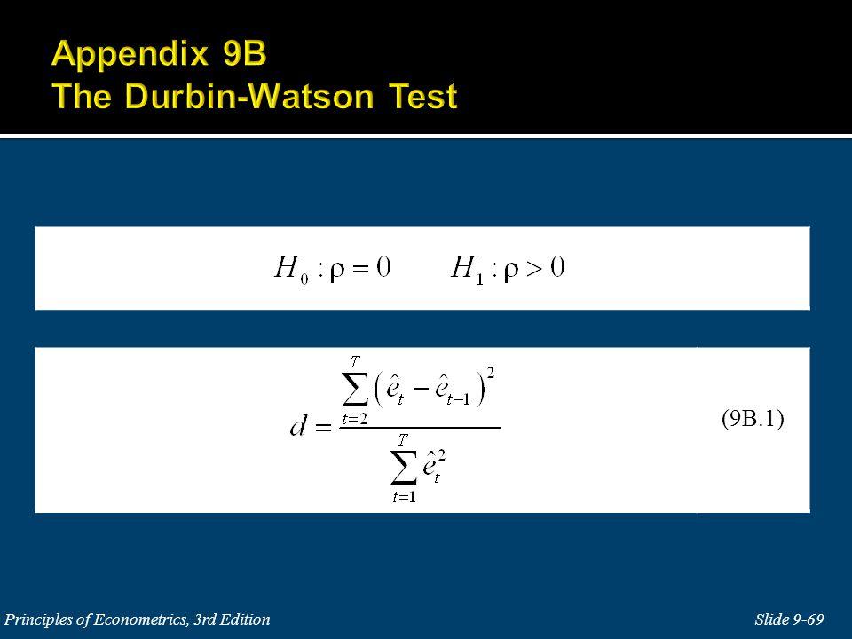 Appendix 9B The Durbin-Watson Test
