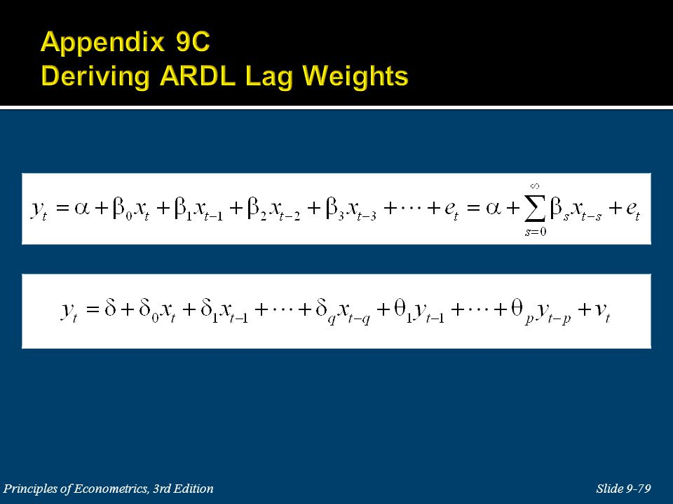 Appendix 9C Deriving ARDL Lag Weights
