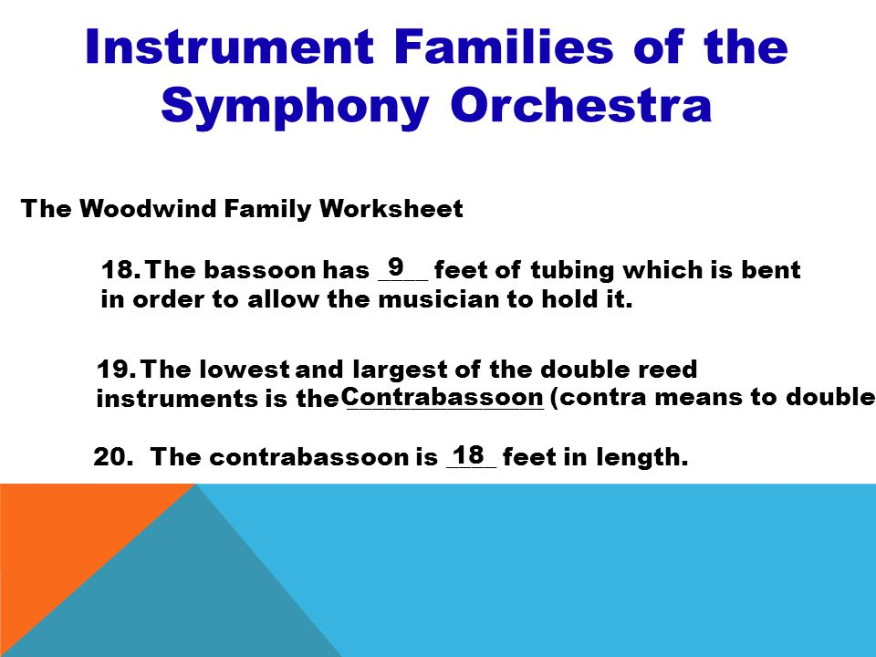 Musical Instrument Families Worksheet - The Best and Most