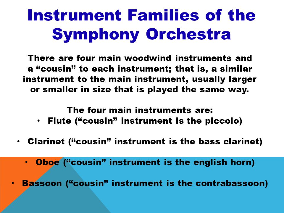 Instrument Families of the Symphony Orchestra