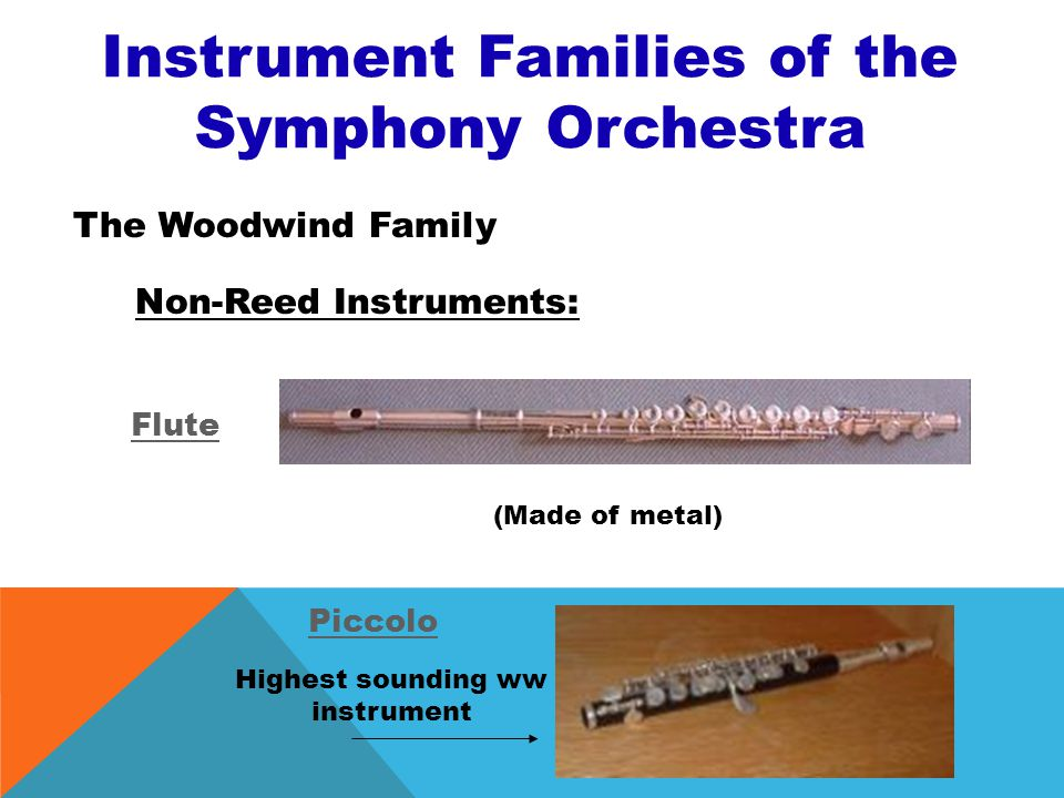 Instrument Families of the