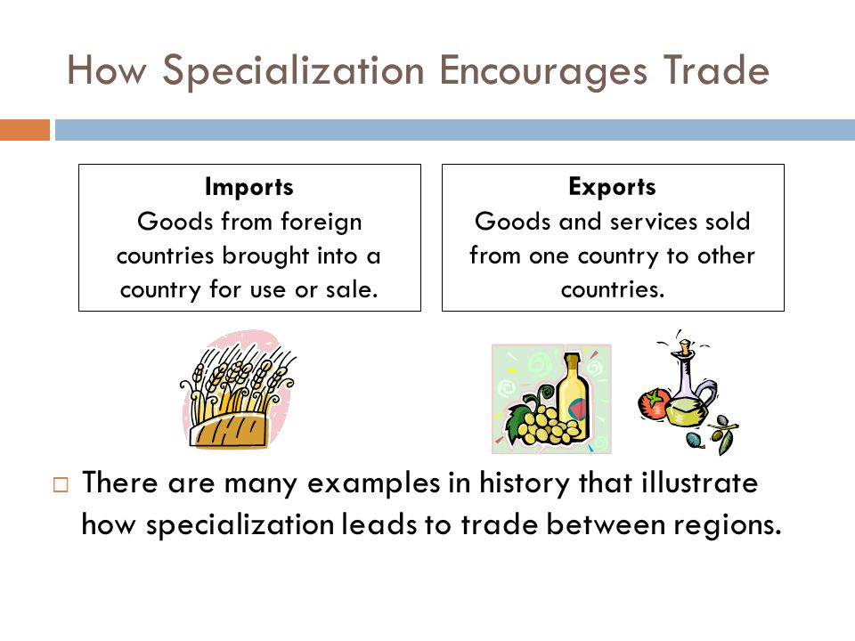 How Specialization Encourages Trade