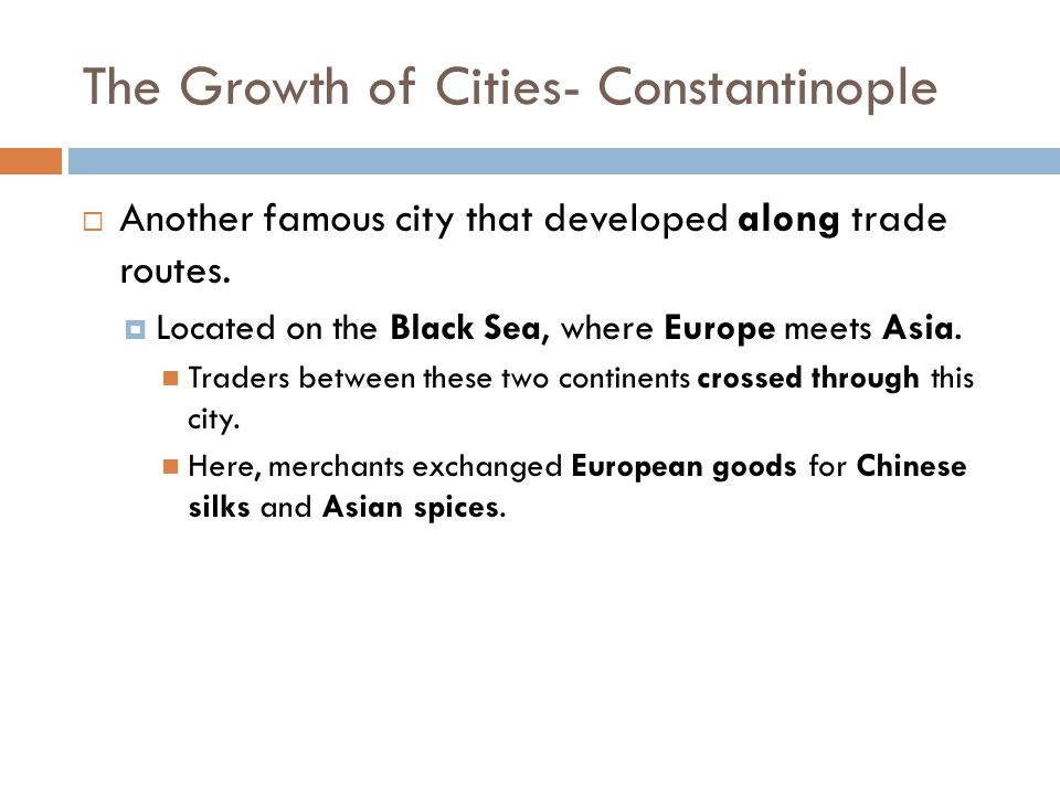 The Growth of Cities- Constantinople
