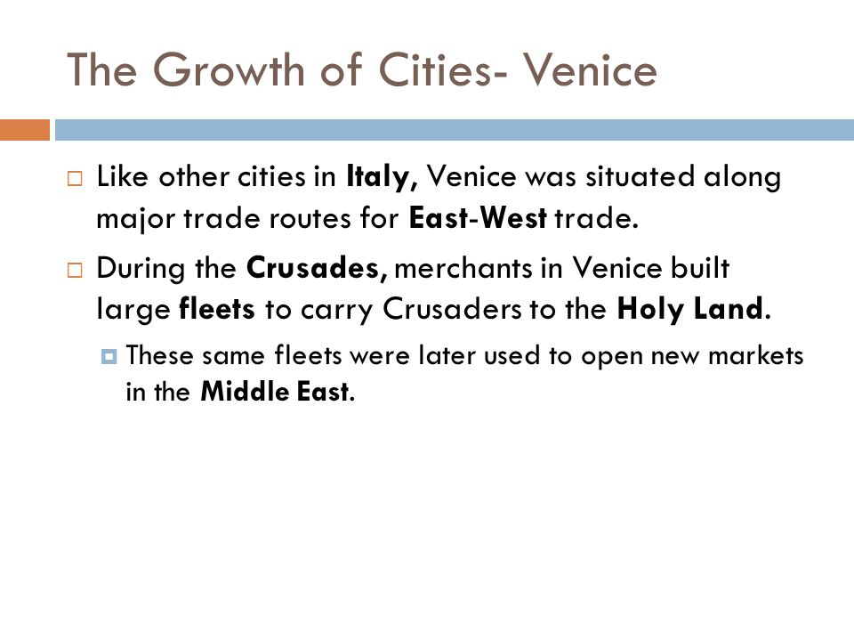 The Growth of Cities- Venice