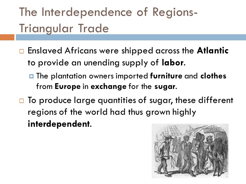 The Interdependence of Regions- Triangular Trade