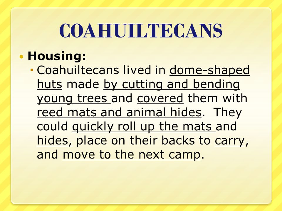 COAHUILTECANS Housing: