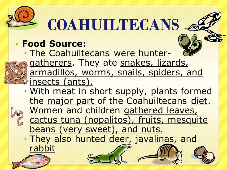 COAHUILTECANS Food Source: