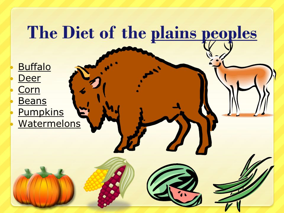 The Diet of the plains peoples