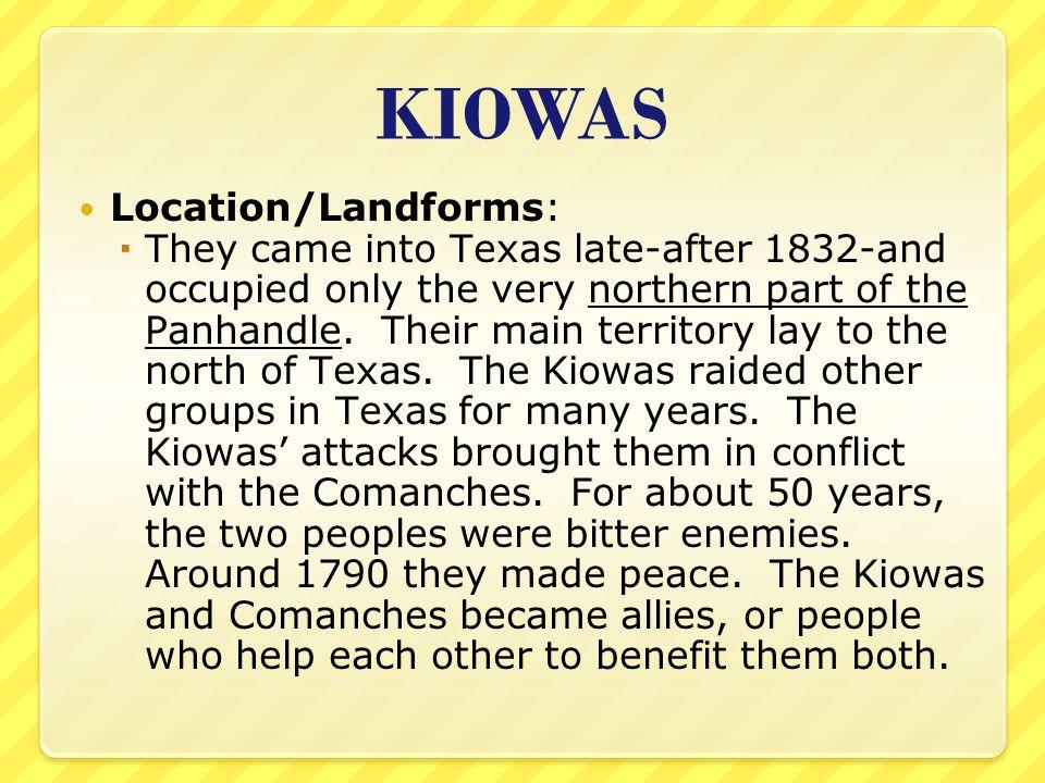 KIOWAS Location/Landforms: