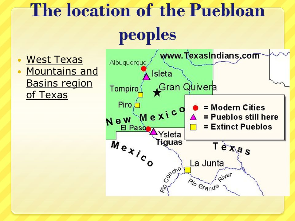 The location of the Puebloan peoples