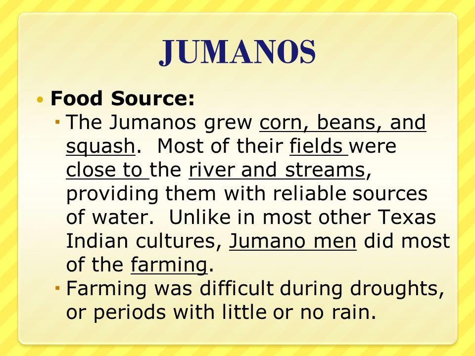 Jumano Indian Food Sources