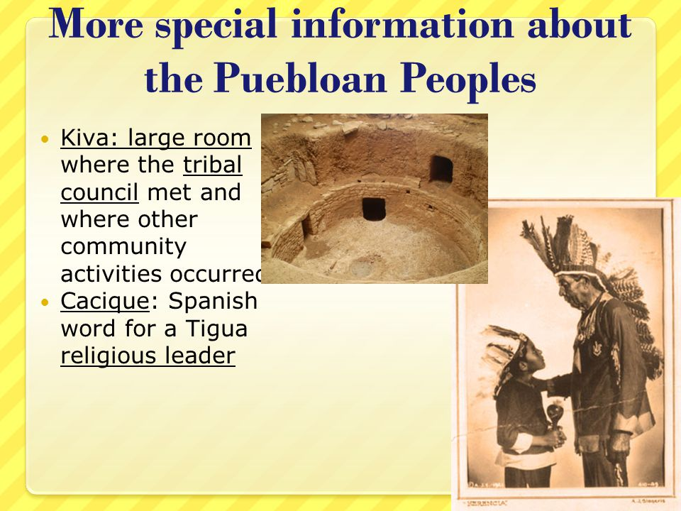 More special information about the Puebloan Peoples