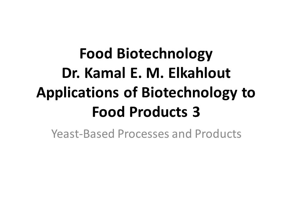 Yeast-Based Processes and Products