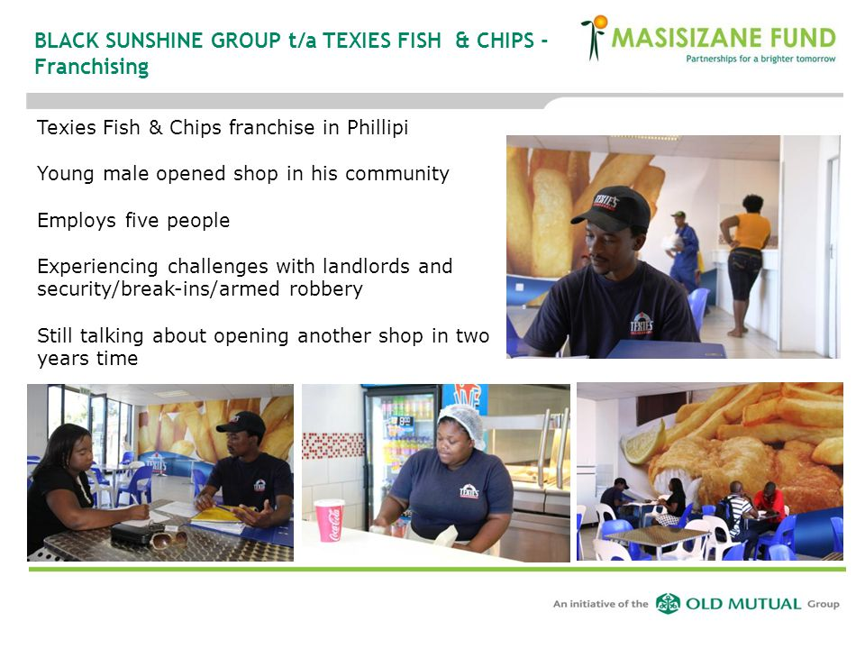 BLACK SUNSHINE GROUP t/a TEXIES FISH & CHIPS - Franchising