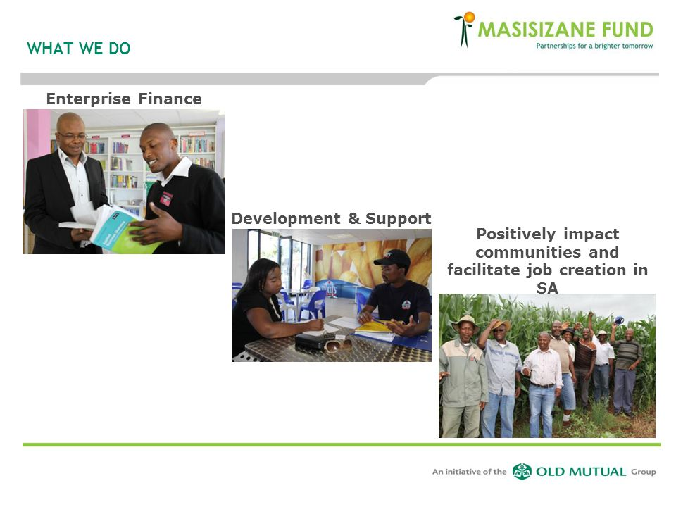 Positively impact communities and facilitate job creation in SA