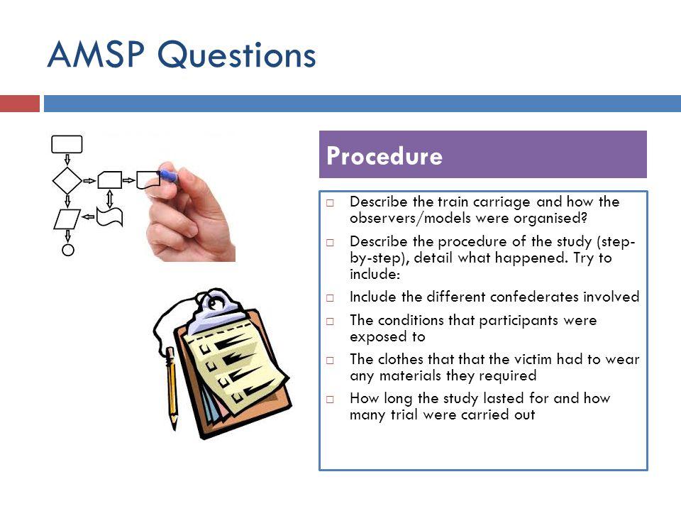 AMSP Questions Procedure
