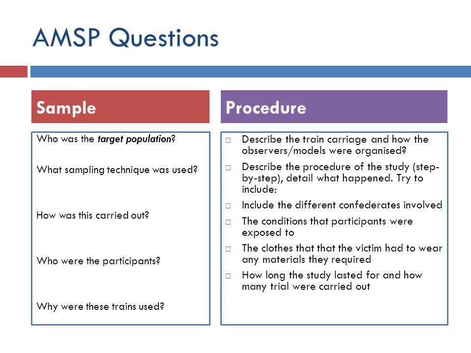 AMSP Questions Sample Procedure