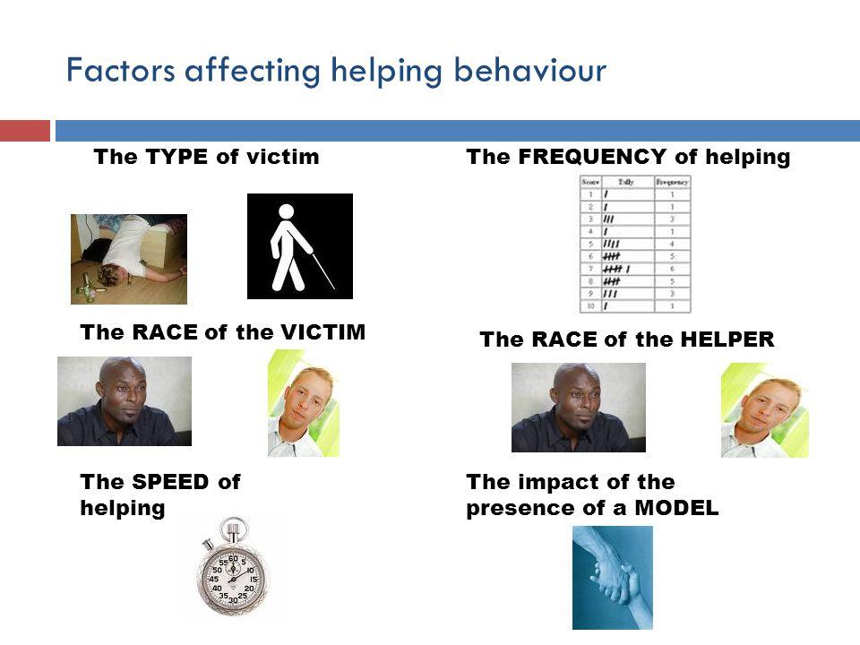 Factors affecting helping behaviour