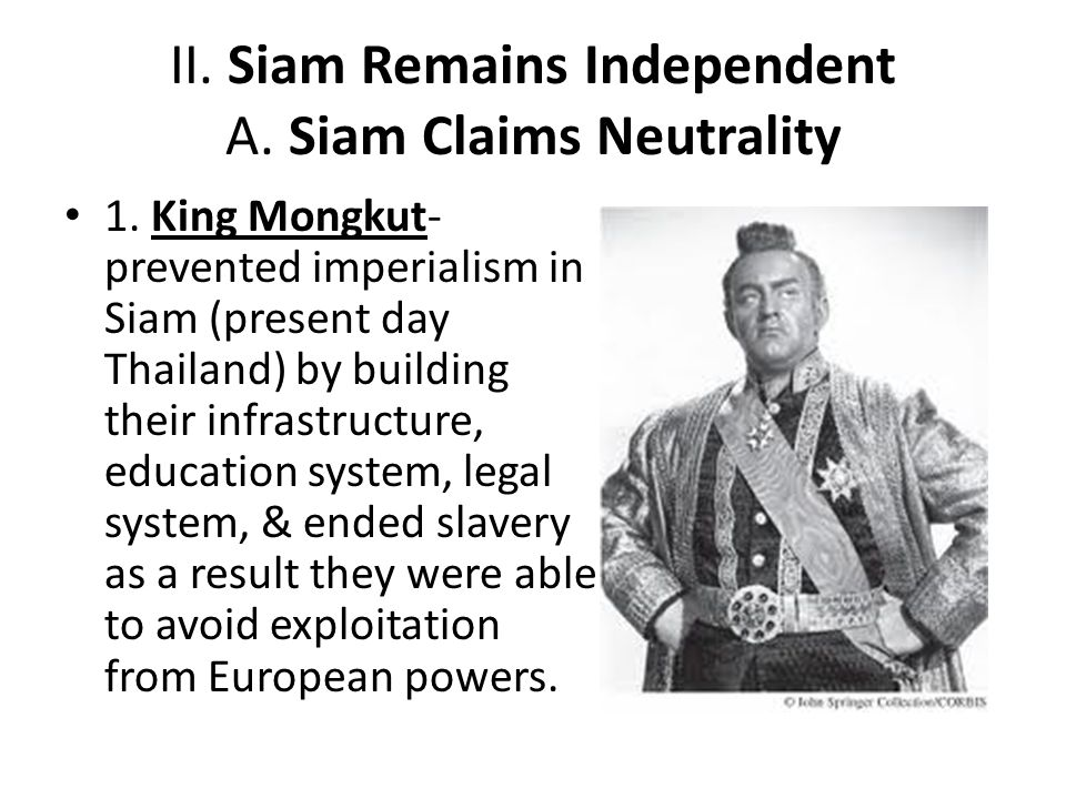 II. Siam Remains Independent A. Siam Claims Neutrality