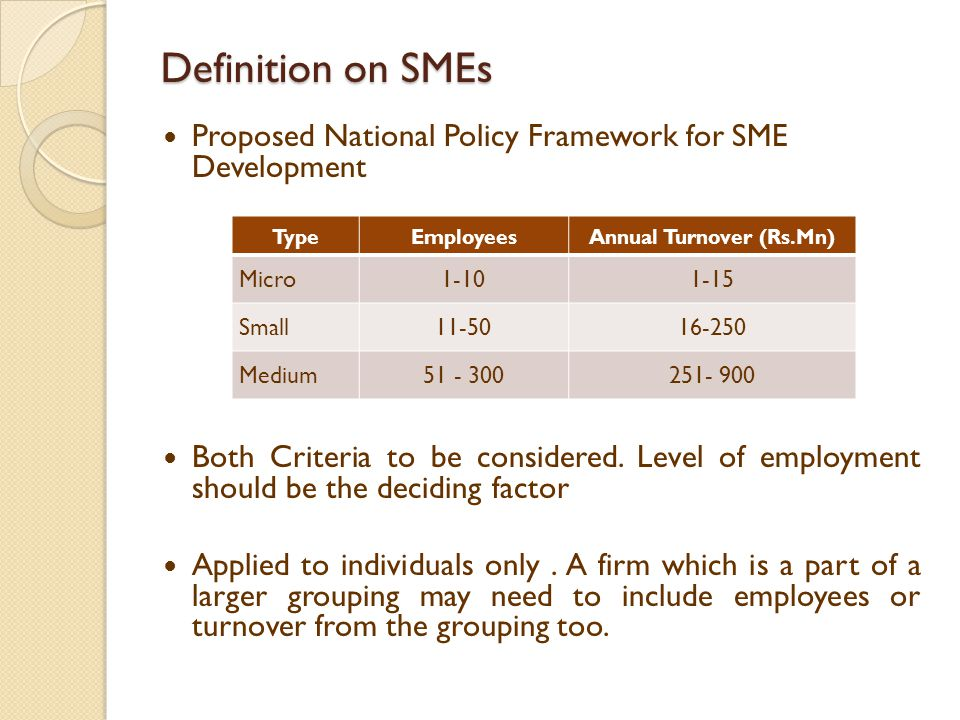 National Policy Framework for SME Development in Sri Lanka ...