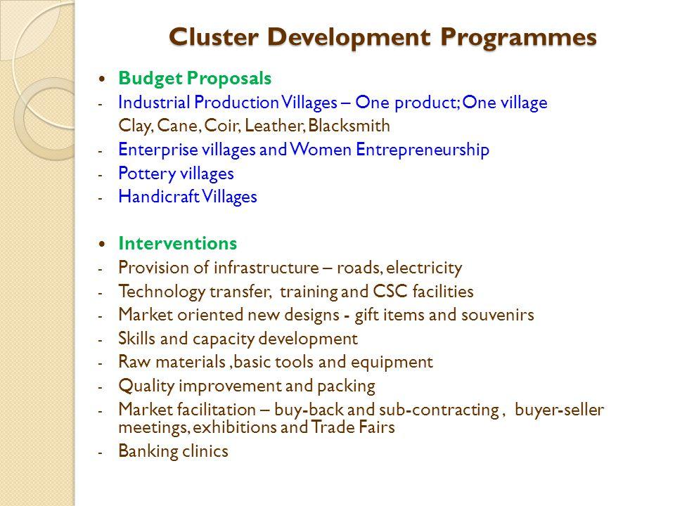 Cluster Development Programmes