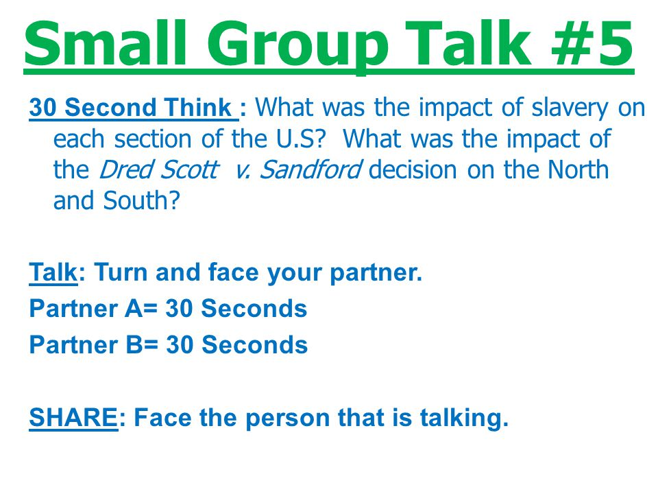Small Group Talk #5