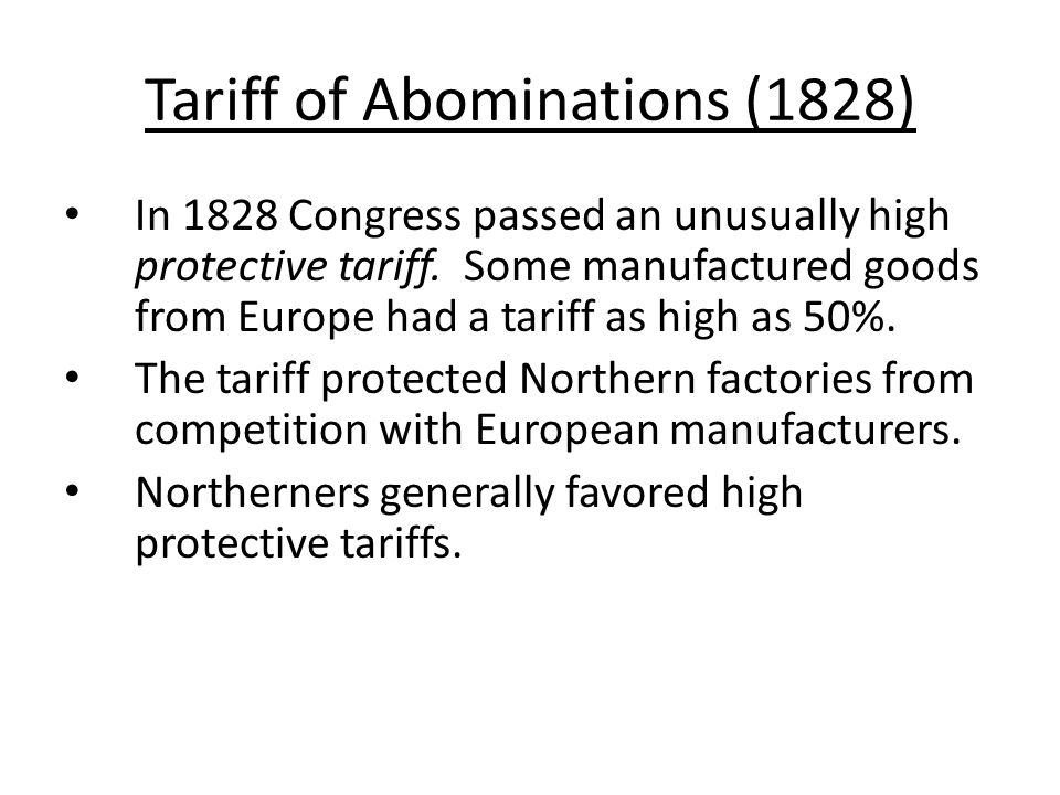 Tariff of Abominations (1828)