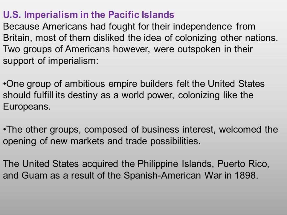 U.S. Imperialism in the Pacific Islands