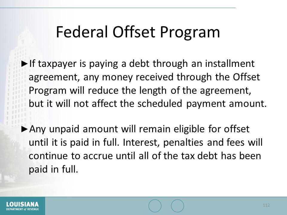 Federal Offset Program