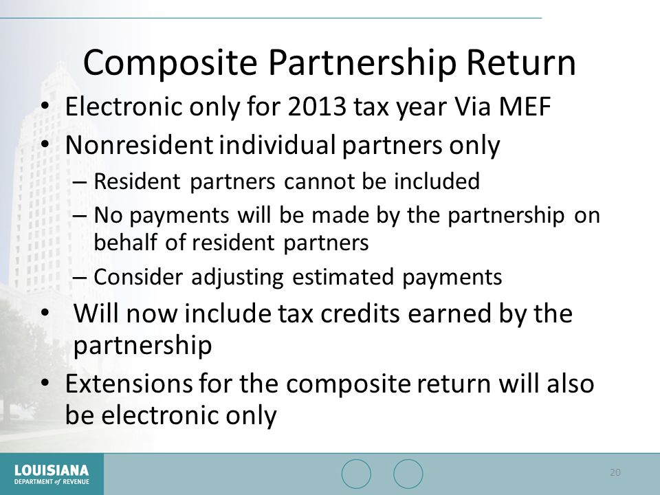Composite Partnership Return