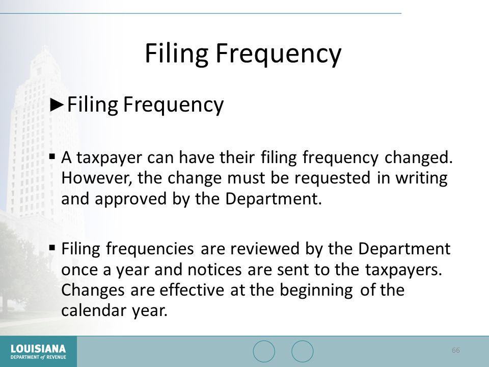 Filing Frequency Filing Frequency