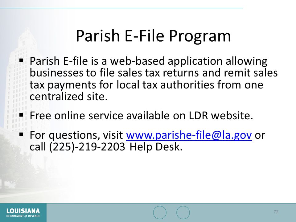 Parish E-File Program