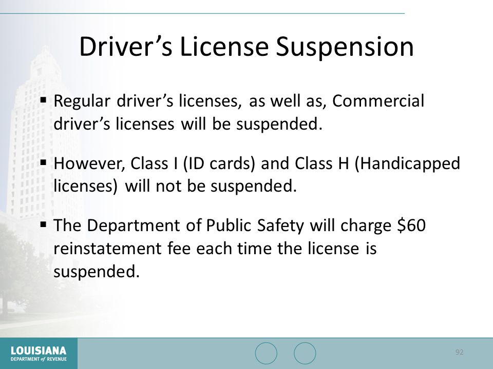 Driver's License Suspension