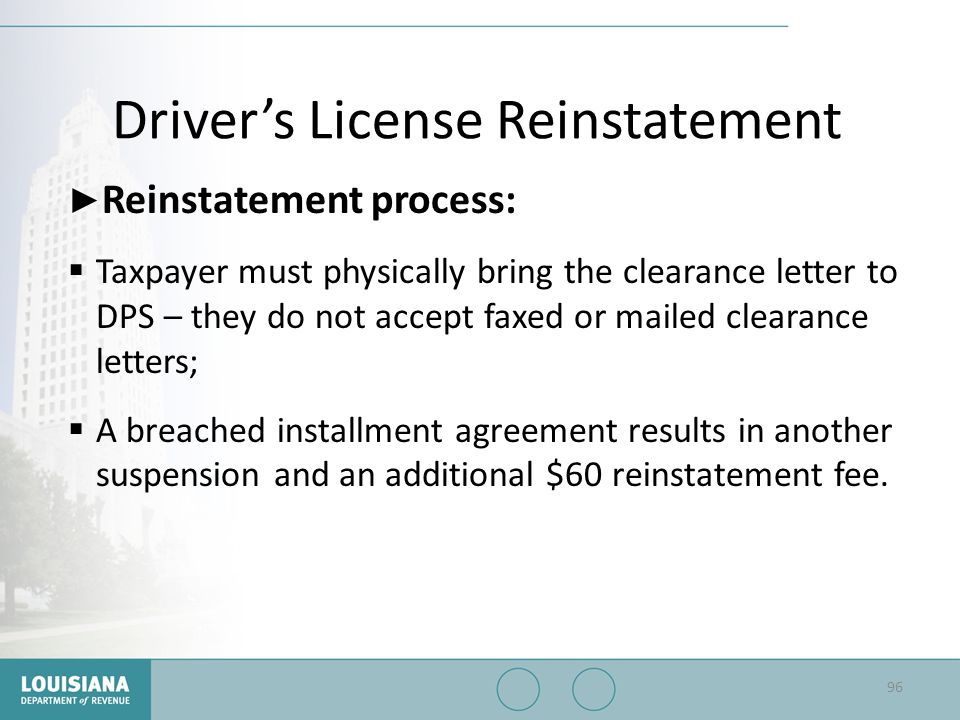 Driver's License Reinstatement