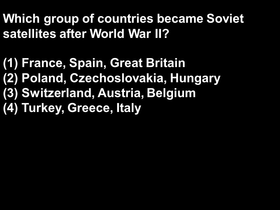 Which group of countries became Soviet