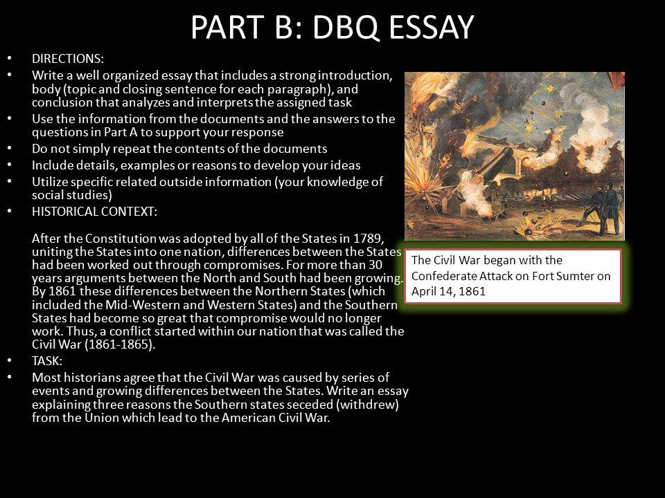 dbq essay assignment
