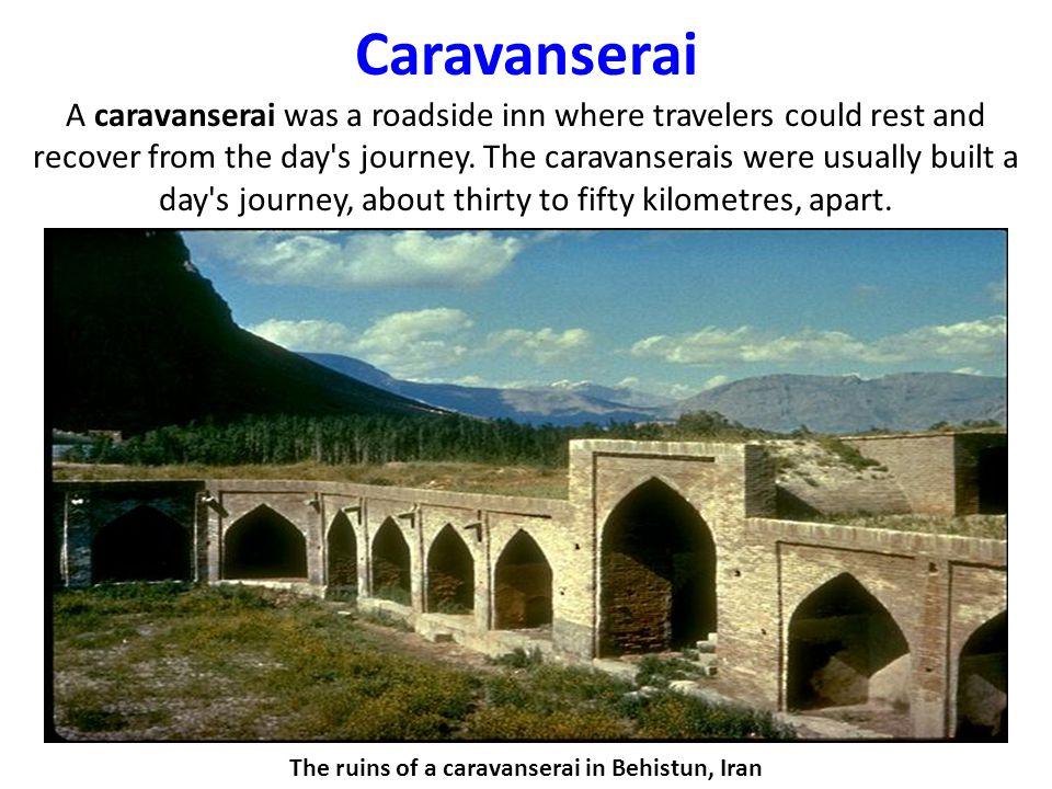 The ruins of a caravanserai in Behistun, Iran