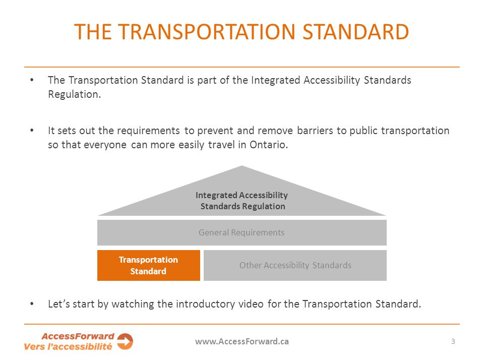 The Transportation Standard