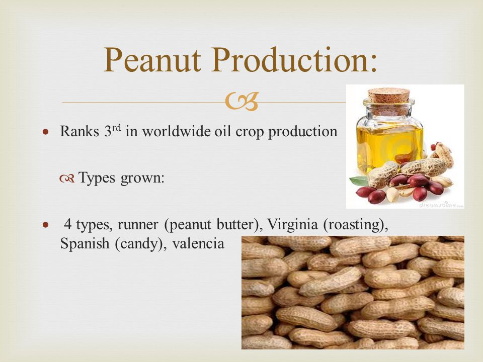Peanut Production: Ranks 3rd in worldwide oil crop production