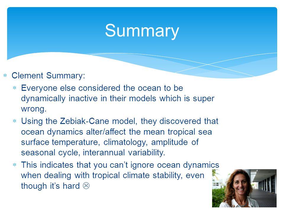 Summary Clement Summary: