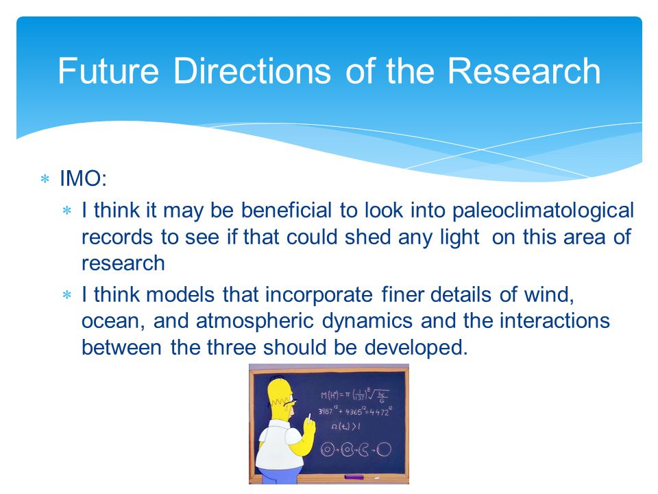 Future Directions of the Research