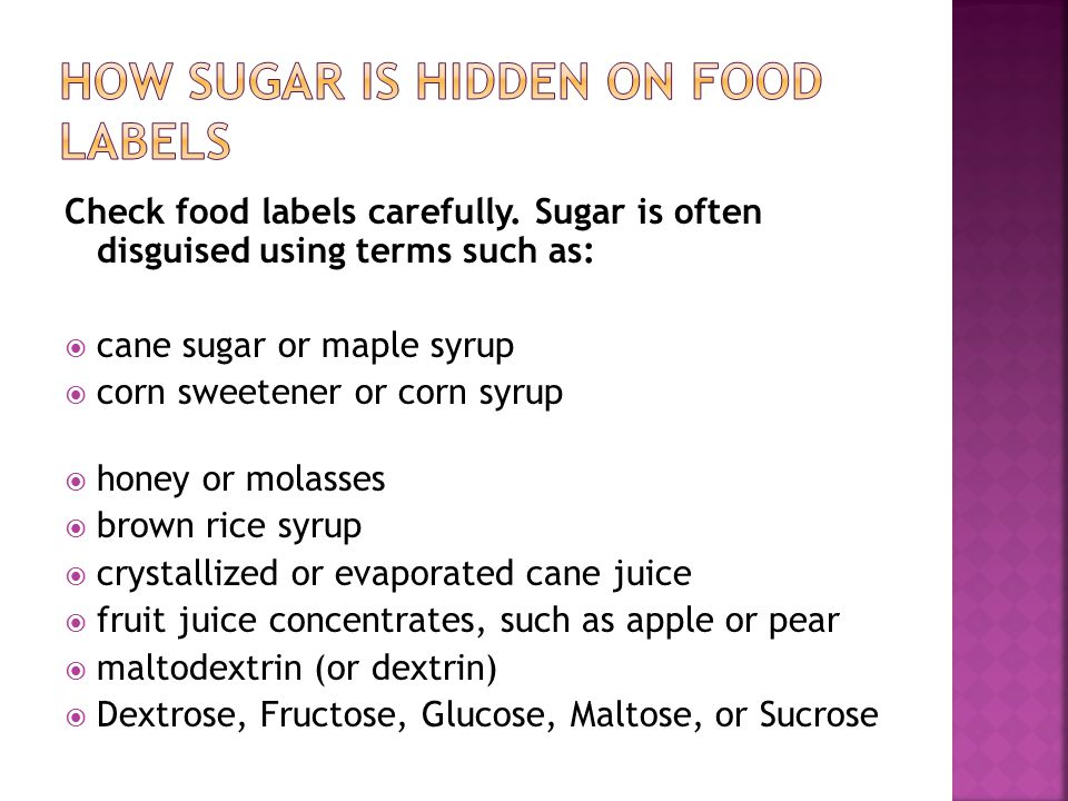 How sugar is hidden on food labels
