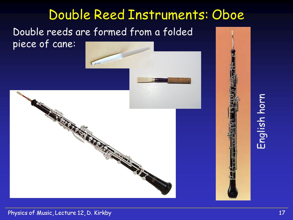 Double Reed Instruments: Oboe