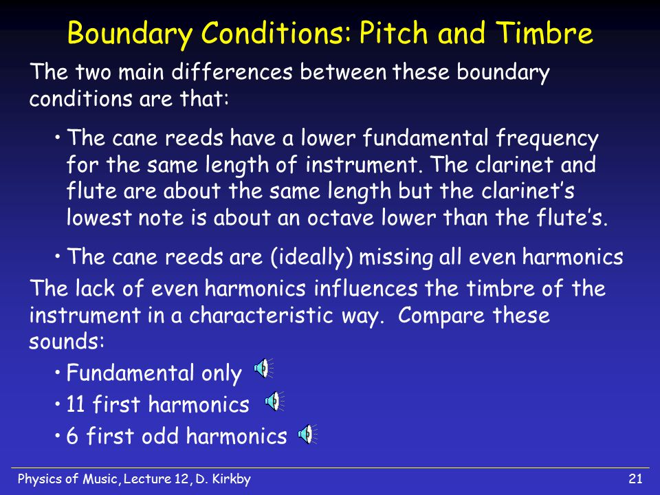 Boundary Conditions: Pitch and Timbre