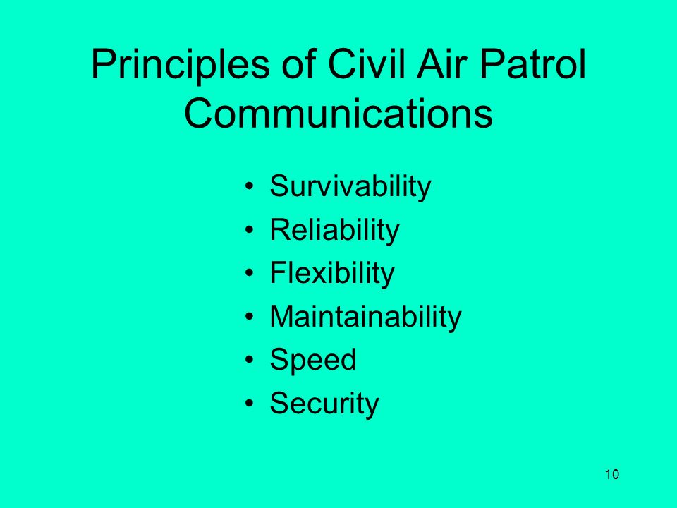 Principles of Civil Air Patrol Communications