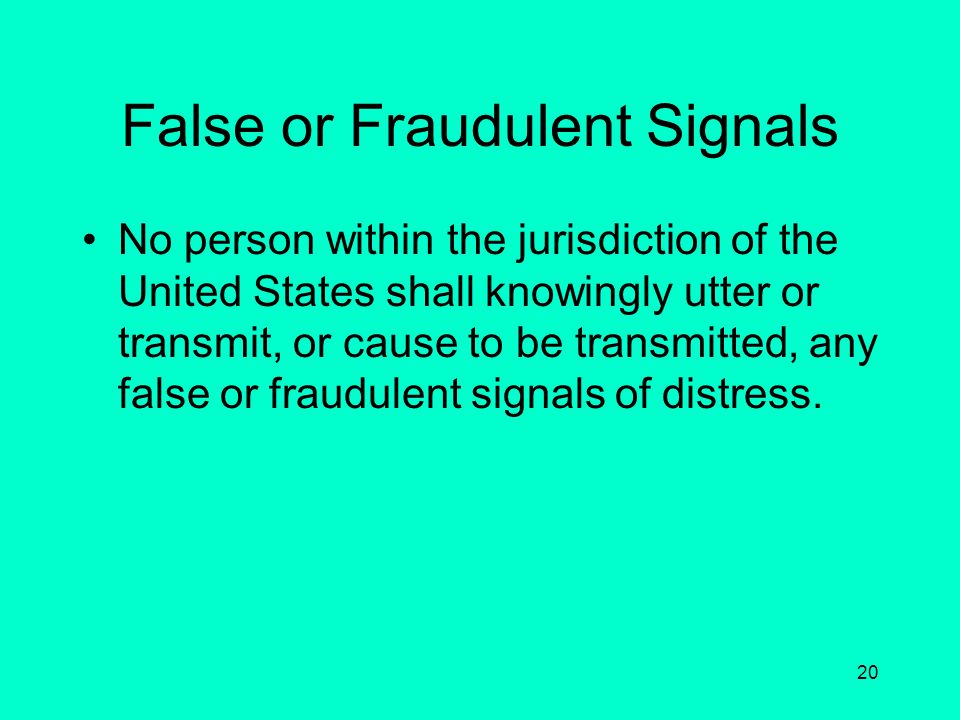 False or Fraudulent Signals