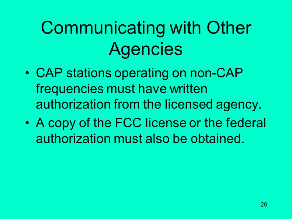 Communicating with Other Agencies