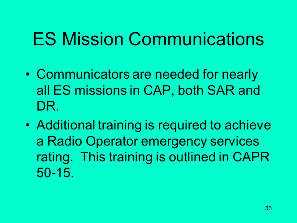 ES Mission Communications